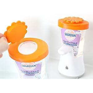 Auslaufsicherer Nachfülldeckel mit Schnellverschluss Drehverschluss für Sagrotan No Touch Seifenspender refill cover