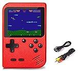 SeeKool Handheld Spielkonsole, 500 Klassische Spielen 3-Zoll-LCD-Bildschirm tragbare Gameboy FC...