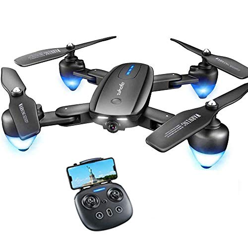 Drone with 1080P HD Camera for Kids and Adults,T4 zuhafa,25Min Flight Time,Foldable Drone for Beginners-Altitude Hold Mode, RTF One Key Take Off/Landing,APP Control,with 2Pcs Batteries
