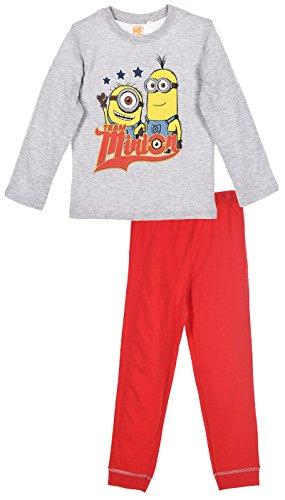 MINIONS - Pijama dos piezas - para niño gris 4 Años