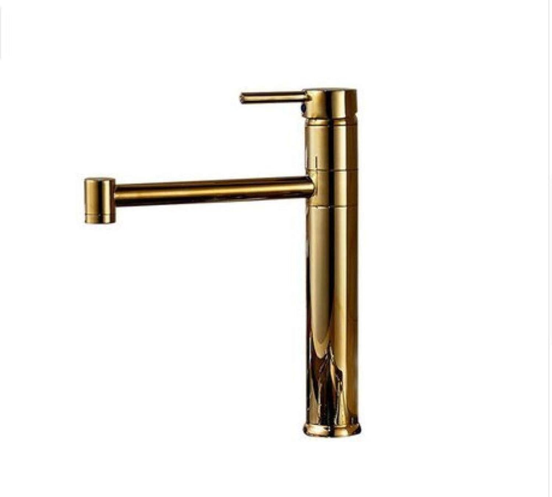 360 ° drehbarer Wasserhahn-Retro- Wasserhahn-Becken-Wasserhahn-Badezimmer-Wasserhhne 360 Grad-Goldene Bassin-Wanne und Küchen-Wasserhahn
