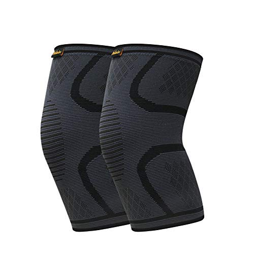 Compression Sleeve for Knee 2 Pack- Knee Brace-Knee Support Men and Women for Running,Hiking,Basketball,Tennis,Gym,Weightlifting etc-Check the Best Fit Size First(M Size)