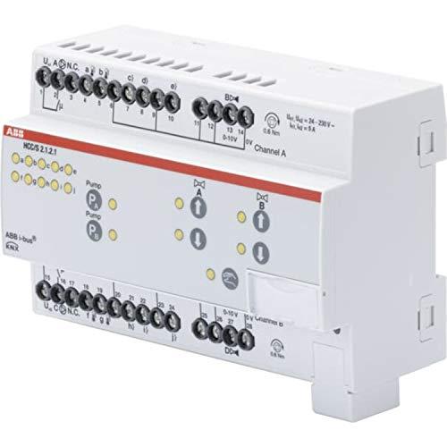 Controlador de circuito de calefacción y refrigeración, 2-f 0-10 V, MDRC, 6,3 x 14 x 9 centímetros, color blanco (referencia: HCC/S 2.1.2.1)