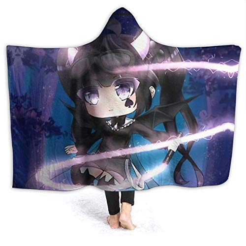 Shichangwei Gacha Life - Manta suave para niños y adultos, manta de felpa con capucha cálida, para cama, sofá, viajes, aire acondicionado, colchas, M 60 x 50 pulgadas