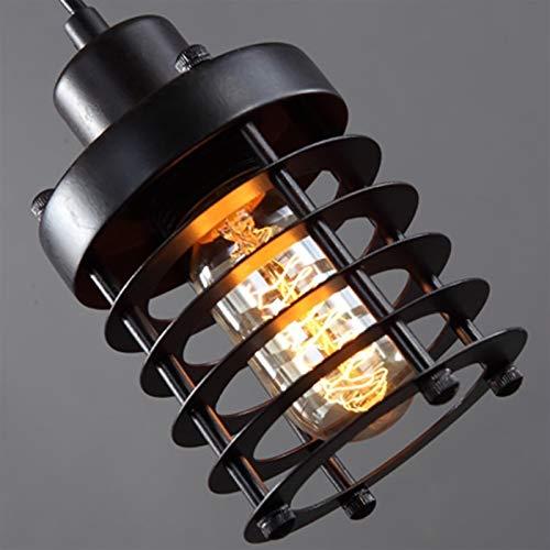LIUYU De una Sola Cabeza de Hierro Bar Restaurante Creativa lámpara Colgante Retro Dormitorio Escaleras Americana Industrial Círculo de iluminación