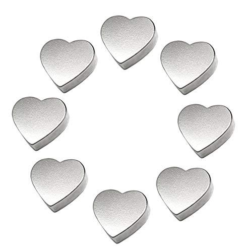 LeBigMag   8 extrem starke N35 Neodym Magnetherzen   Ø15 mm 4 mm hoch   sehr solide Magnete in Herzform aus extrastarkem NdFeB   für Pinnwand Kühlschrank Magnettafel Glasmagnettafel