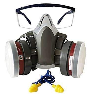 Induschoice Half Face Organic Vapors Respirator Mask Multi-Purpose Respirator Gas Mask Set of 4,Medium from Induschoice