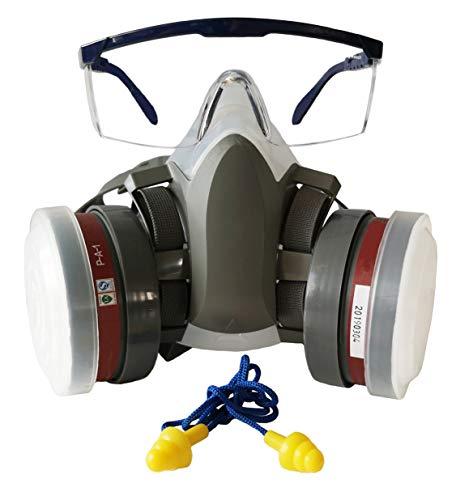 SYINE Half Face Organic Vapors Respirator Mask Multi-Purpose Respirator Gas Mask Set of 4,Medium
