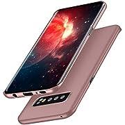 Meidom Ultra Dünn Hülle Kompatibel mit Samsung Galaxy S10 Plus Hülle [Anti-Kratzen] Schutzhülle Handyhülle [Anti-Fingerabdruck] PC Bumper Case für Samsung Galaxy S10 + (6,4 Zoll) - Matt Rosegold