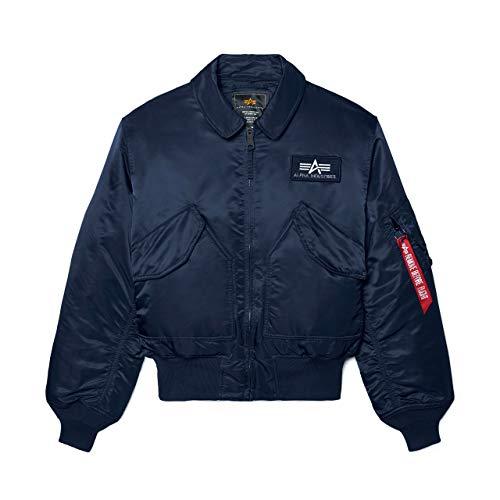 Alpha Industries Men's CWU 45-P Flight Jacket (L, Replica Blue)