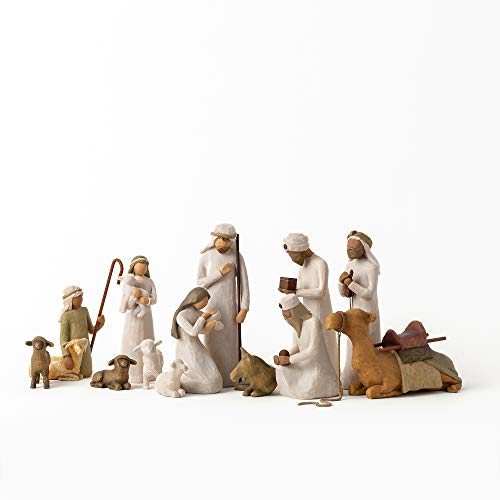 Willow Tree Nativity Starter Figures with The Three Wisemen Plus Camel, 13-Piece Set