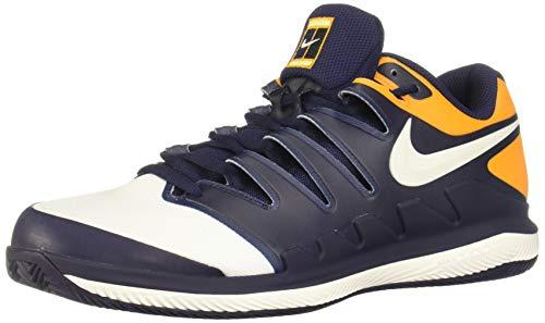 Nike Herren Air Zoom Vapor X Clay Sneakers, Mehrfarbig (Blackened Blue/Phantom/Orange Peel 001), 40 EU
