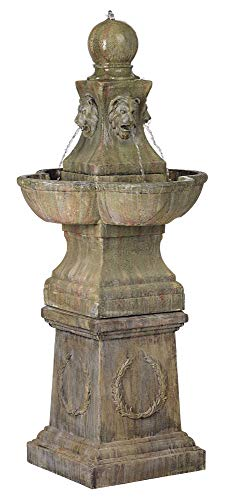 John Timberland Tuscan Garden Pedestal 54' High Outdoor Fountain