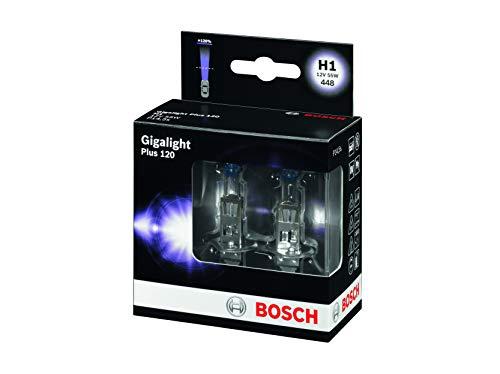 BOSCH 1987301105 Gigalight Plus 120 Xenon Bulb H1 / 12 V / 55W / P14, 5s / 2 Set
