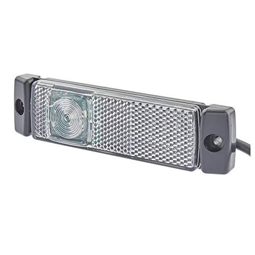 HELLA 2PG 008 645-971 Positionsleuchte - LED - 24V - Anbau - Lichtscheibenfarbe: glasklar - Kabel: 500mm - vorne