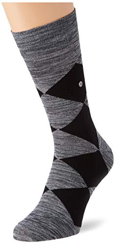 Burlington Herren Multicolour Clyde Socken, grau (Light Grey Mel. 3390), 40-46