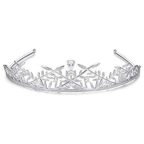 LIUXING-Home Crown Girl Or Women Birthday Party Wedding Prom Crystal Crowns And Tiaras With Tomb Headband Ladies headwear (Color : White)