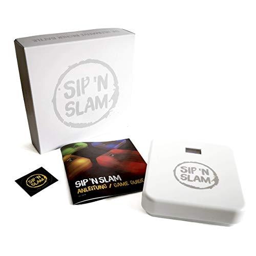 Sip n Slam Slambase | das Neue Trinkspiel mit App | Auf Zeit, auf ex, auf Video! | Turniere und Wettkämpfe | Partyspiel | Kneipenspiel | Junggesellenabschied