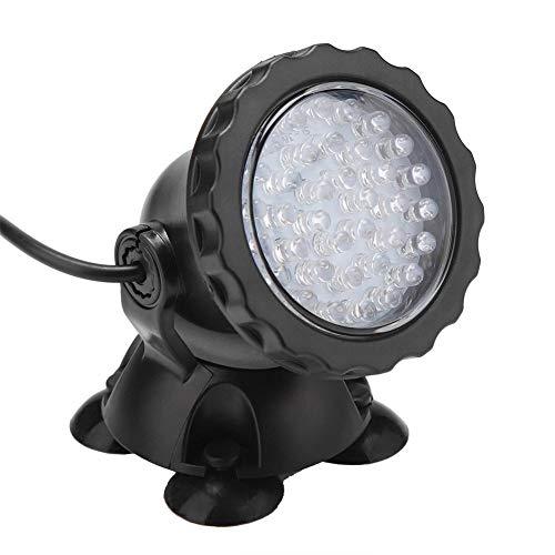 Riuty Unterwasser LED Spot Licht,2Pack Tauchlampe Teichlichter 3W AC100-240V EU-Stecker LED-Unterwasserlicht mehrfarbige wasserdichte Scheinwerferlampe für Gartenbrunnen Schwimmbad Teich