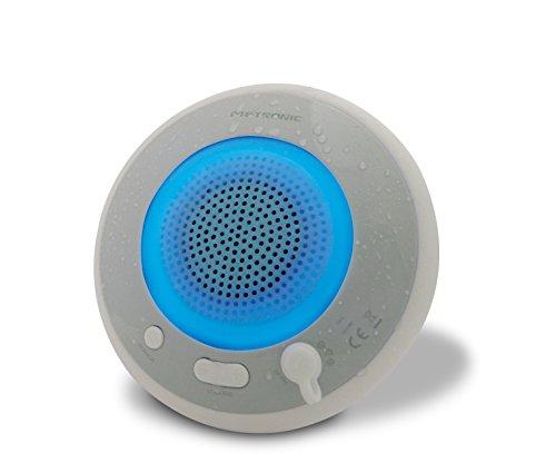 Metronic 477067 - Altavoz Bluetooth flotante y luminoso, blanco/azul
