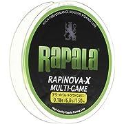 ラパラ(Rapala) ラピノヴァX マルチゲーム ライムグリーン 0.18号 6lb 150m Rapinova-X Multi Game 150M . RLX150M018LG