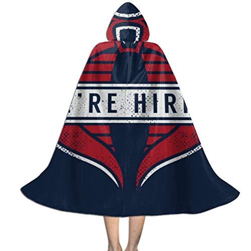GI Joe Cobra Commander were Hiring Unisex Hooded Cloak Cape Halloween Party Decoration Role Cosplay Costumes Black