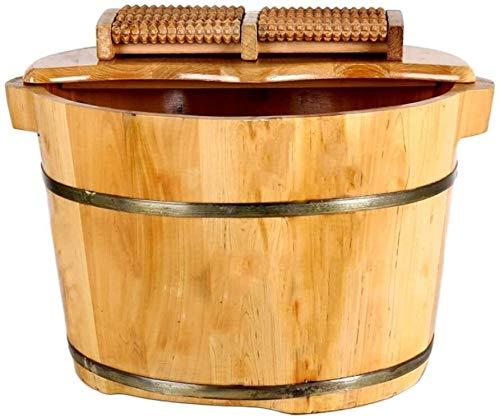 QIANSHI Détails décident la qualité Bain de Pieds Barrel, Barrel cèdre Bain de Pieds, Massage Fumigation Bucket, Bain à Pied Couvert, Adulte Bain de Pieds des Pieds, Chaud Partout
