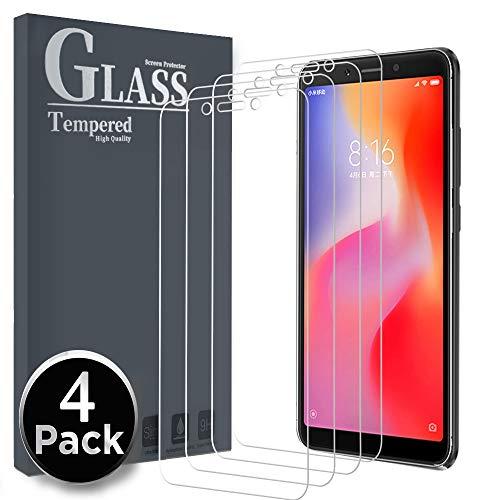 Ferilinso für Xiaomi Redmi 6/Redmi 6A Panzerglas Schutzfolie, [4 Pack] Gehärtetes Glas Bildschirmschutzfolie für Xiaomi Redmi 6/Redmi 6A (Transparent)