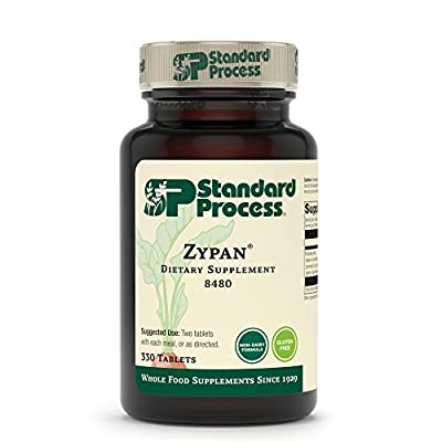 Standard Process Zypan - Whole Food Digestion and Digestive Health with Pepsin, Betaine Hydrochloride (Betaine HCl) and Pancreatin - Gluten Free - 330 Tablets