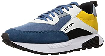 Diesel Men s S-TYCHE Sneaker Midnight/Star White/Golden Rod 10.5