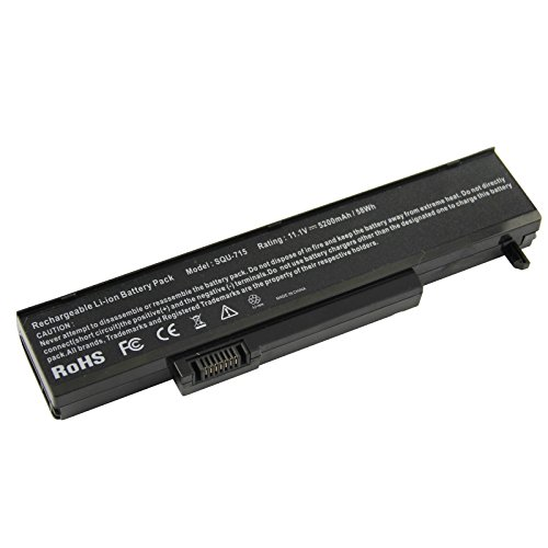 AC Doctor INC Laptop Battery for Gateway T1600 T6300 T6800 P6300 P6800 M1400 M150 M1600 M6300 M6700 M6800 Series SQU-715 W35052LB-SP, 5200mAh/11.1V/6-Cells