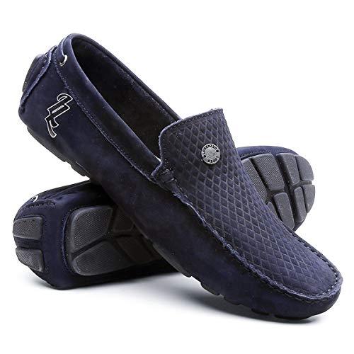 Mocassim Masculino Sapato Para Dirigir - Marinho - 42