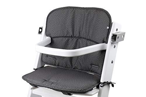 Tinydo® Universal Hochstuhl-Sitzkissen optimal für Timba Safety 1st. und alle gängigen Treppenhochstühle - 2teilg. Set mit Memory-Schaum Sitzverkleinerer-Auflage für Babystühle rutschfest (gepunktet)