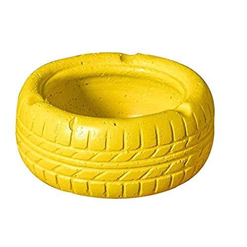 YAeele Neumático de Cemento neumáticos Maceta de Flores de Almacenamiento cenicero cenicero de Ruedas Modelo de la casa de Escritorio baratijas Decoración del Arte del Arte