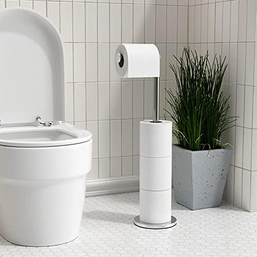 Acier Inox Dérouleur Papier Toilette för cuisine Porte papier Toilette, réserve à papier WC dérouleur papier toilette de haute qualité,Pratique et design, convient pour tous les WC et salles de bain