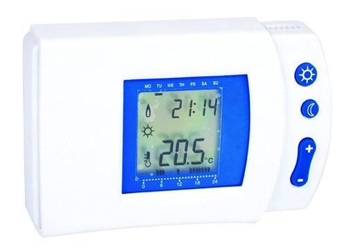 Voltman VOM509008 - Termostato electrónico digital (programa semanal)