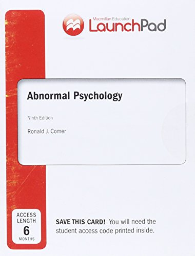 Launchpad for Comer's Abnormal Psychology (Six Month Access)