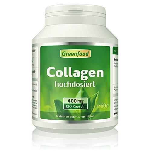 Collagen, 400 mg, hochdosiert, 120 Kapseln – natürliches Collagenhydrolysat. OHNE künstliche Zusätze, ohne Gentechnik.