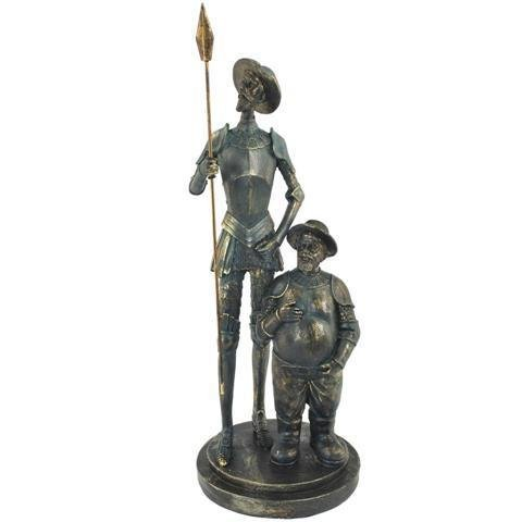 Figura Decorativa de Resina Don Quijote y Sancho