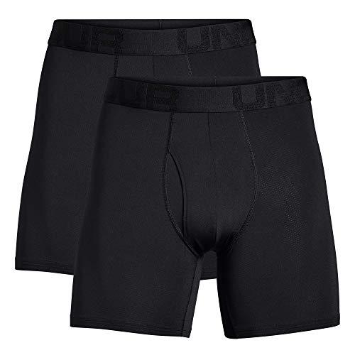 Under Armour Boxerjock Tech Mesh 15 Cm In Confezione Doppia Boxer, Uomo, Black / / Black (001), XL