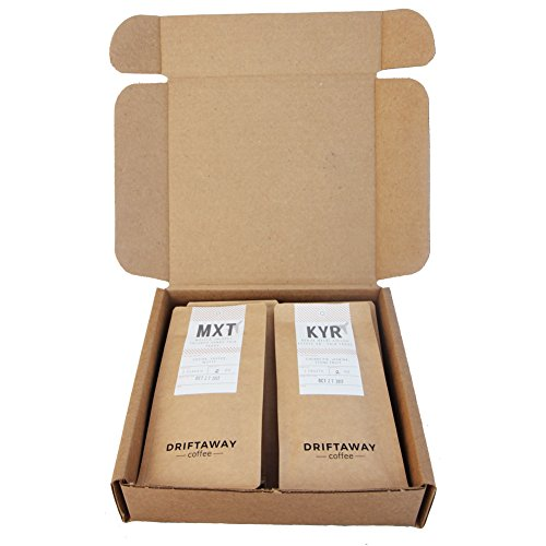 Driftaway Coffee - World Coffee Sampler, Whole Beans, Eco-friendly and Sustainable (0.5 Pound)