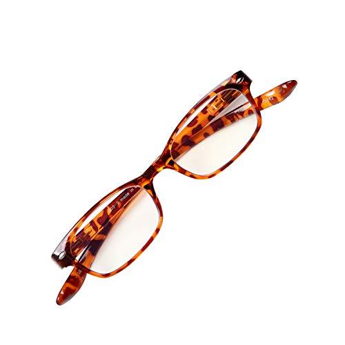 首に掛けられる老眼鏡 NEW Hold Neck 802 ホールドネック ブルーライトカット35% プレゼントパッケージ ユニセックス 眼鏡ケース 緩み調整ドライバー付き[PrePiar](デミブラウン・+2.0)