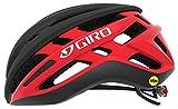 Giro Agilis MIPS Casco de Ciclismo Road, Negro Mate y Rojo Brillante, S (51-55cm)