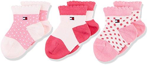 Tommy Hilfiger TH Baby Newborn GIFTBOX 3P Calcetines, Rosa (Pink Lady 422), recién nacido (Pack de 3 para Bebés