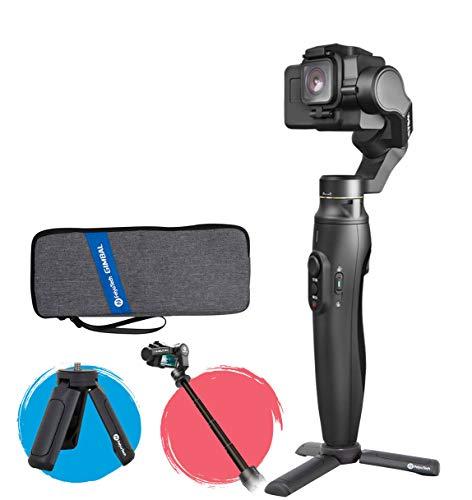 Feiyu Vimble 2A Tätigkeits-Kamera Gimbal Stabilizer mit 18cm Verlängerungsstange, Tätigkeits-Kamera 3-Achsen-Handheld-Gimbal für GoPro Helden 5/6/7/8, YI 4K, WiFi Steuerung/Kontrolle Bluetooth