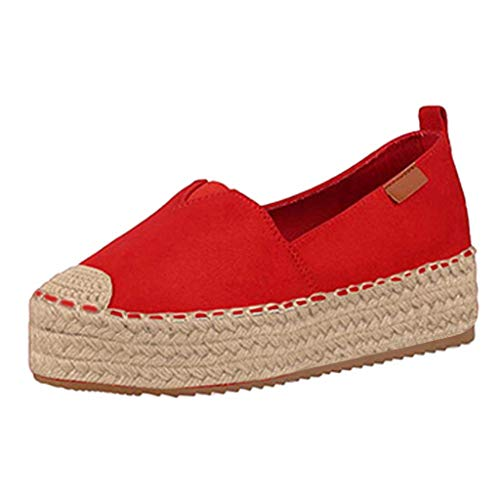 Find Bargain Kiminana Large Size Hemp Rope Work for Waitress Light Sole Casual Single Shoes Female C...