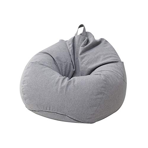 FINDYU Bean Bags, With Particle Filling Comfortable Washable Seat Gray Lazy Sofa For Living Room Children's Room Bean Bags (Color : A, Size : 60×70cm)