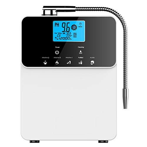 AGWIM Water Ionizer AG8.0, Multifunctional Alkaline Water Machine, Home Water Filter System Produces PH2.8-11 Water, Up to -800mV ORP, 8000L Per Filter, 5 Water Options, Auto-Cleaning, White