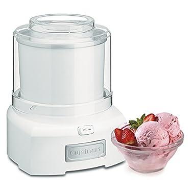 Cuisinart ICE-21 1.5 Quart Frozen Yogurt Ice cream maker, Qt, White