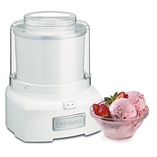 Cuisinart ICE-21P1 1.5 Quart Frozen Yogurt Ice cream maker, Qt, White